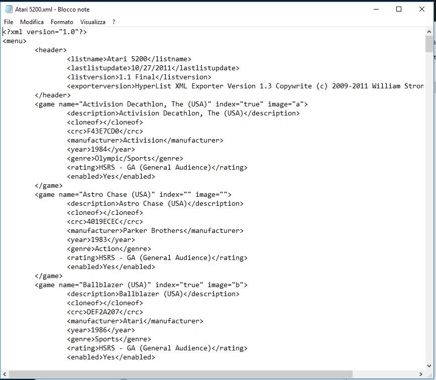 database XML